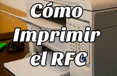 cómo imprimir RFC