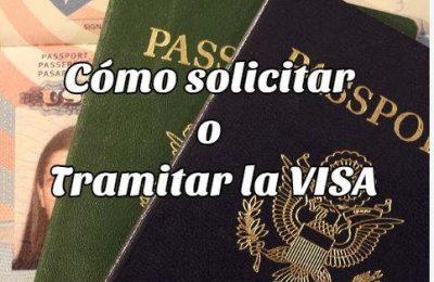 cómo solicitar tramitar visa