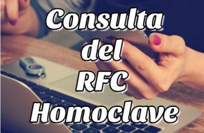 consulta del rfc con homoclave calculadora