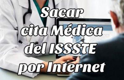 sacar cita médica Issste online
