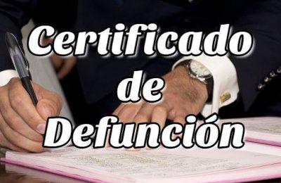 Aspectos Legales Sobre el Certificado de Defunción