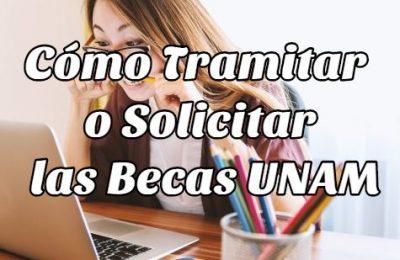 como tramitar o solicitar las becas UNAM