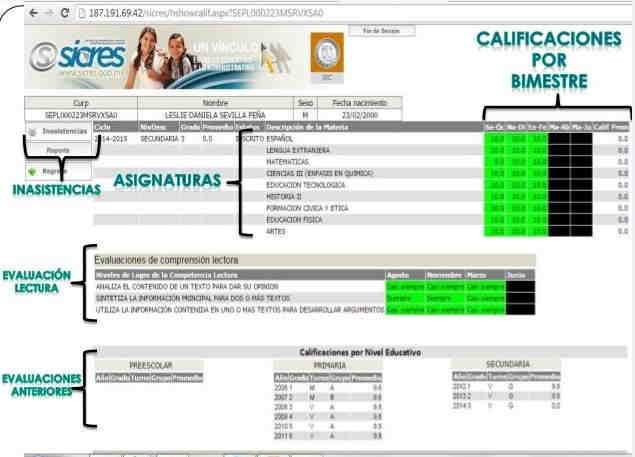 boleta de calificaciones 7