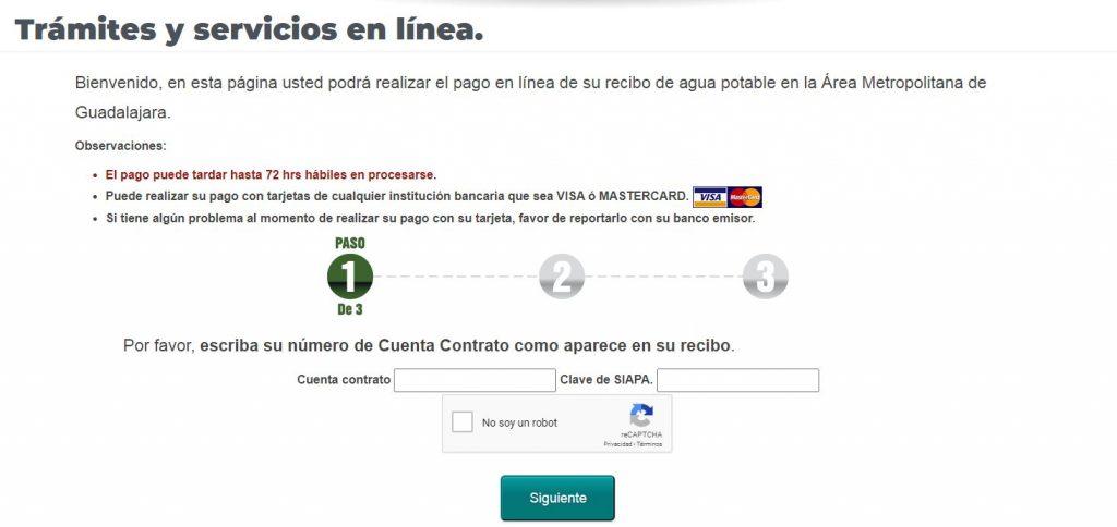 como pagar en linea siapa mexico