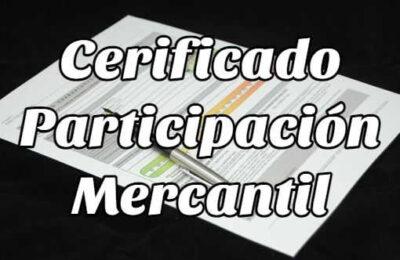 certificado participación mercantil